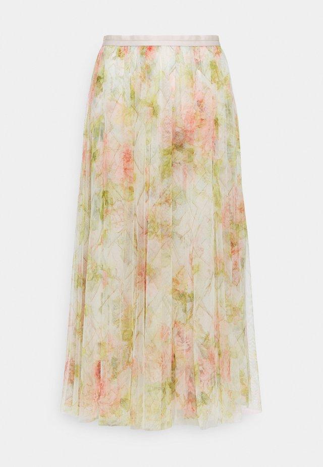 HARLEQUIN ROSE BALLERINA SKIRT - A-snit nederdel/ A-formede nederdele - beige