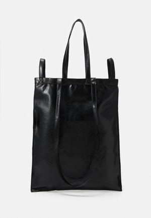 SHINY PLEATHER BERLIN BAG - Shopping bag - black