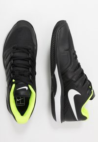 Nike Performance - AIR ZOOM PRESTIGE CLAY - Clay court tennis shoes - black/white/volt - 1