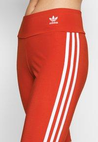 adidas Originals - ORIGINALS HIGH WAISTED TIGHTS - Shorts - lush red/white - 4