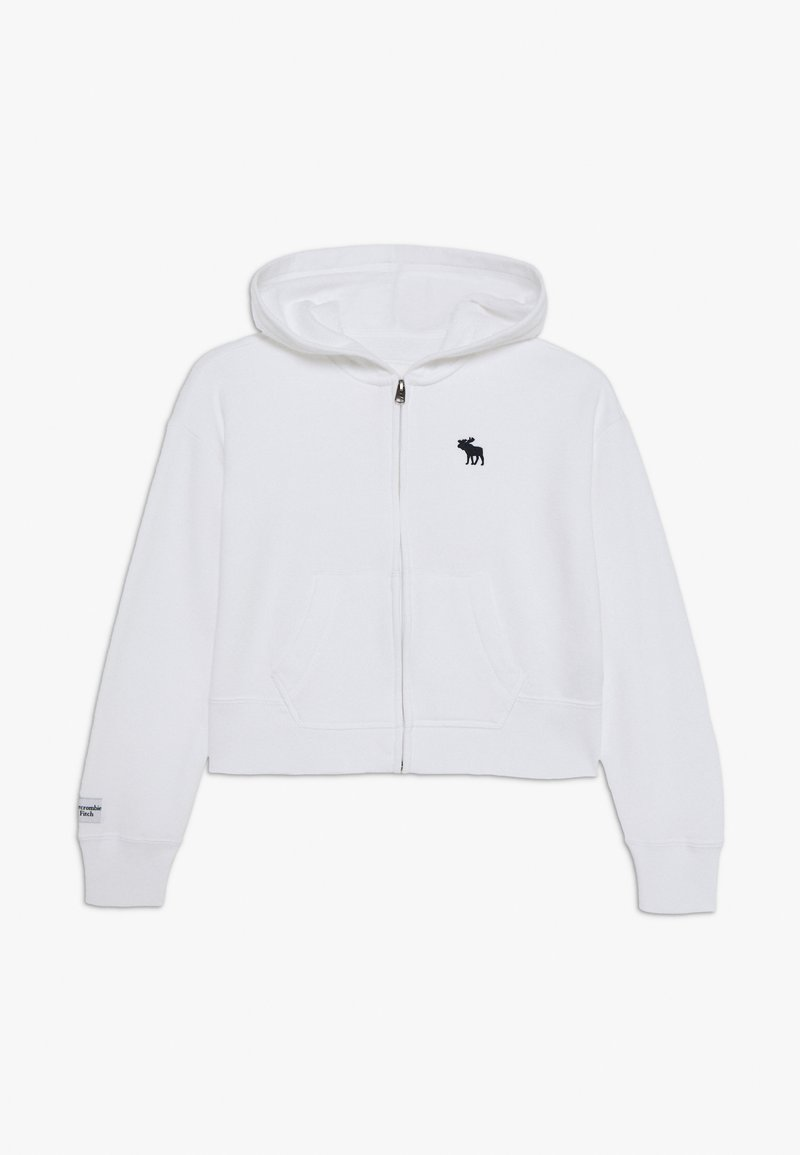 Abercrombie & Fitch - CORE FULLZIP  - Hoodie met rits - white