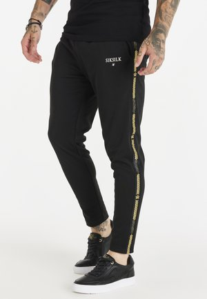 FITTED SMART CROWN PANTS - Tracksuit bottoms - black/gold