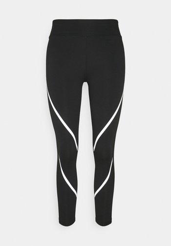 Leggings - black/silver