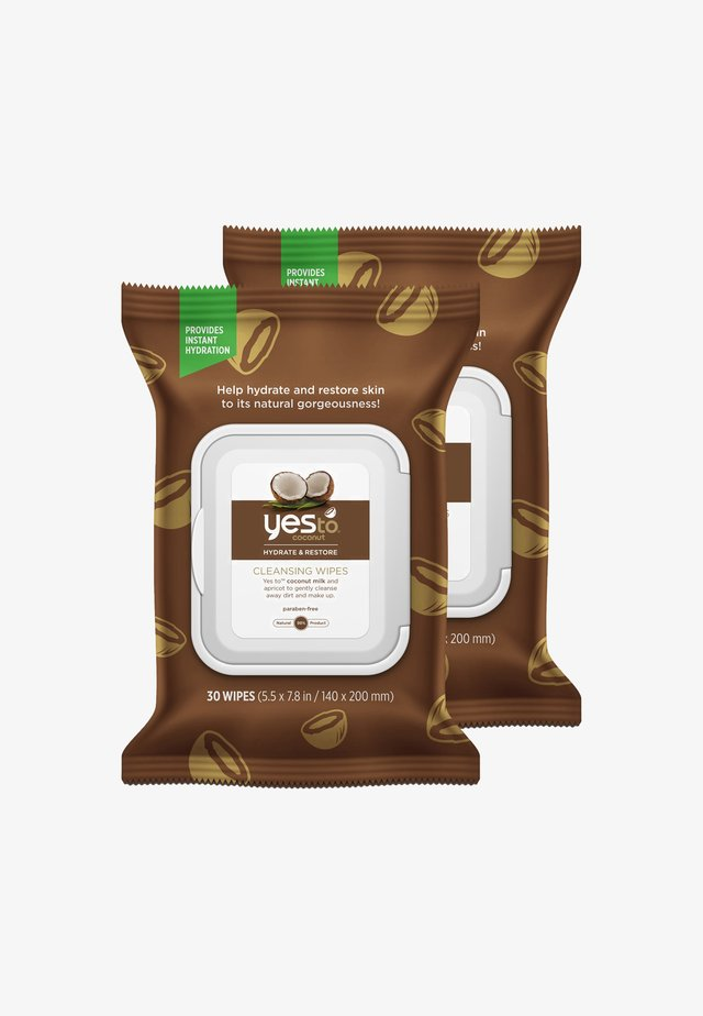 YES TO COCONUT HYDRATE & RESTORE CLEANSING WIPES 2 PACK - Ansigtsrens - -