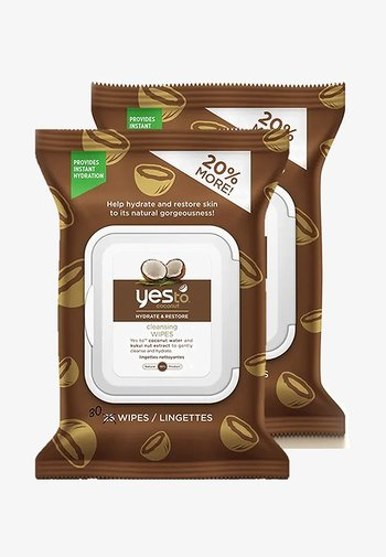 YES TO COCONUT HYDRATE & RESTORE CLEANSING WIPES 2 PACK - Cleanser - -