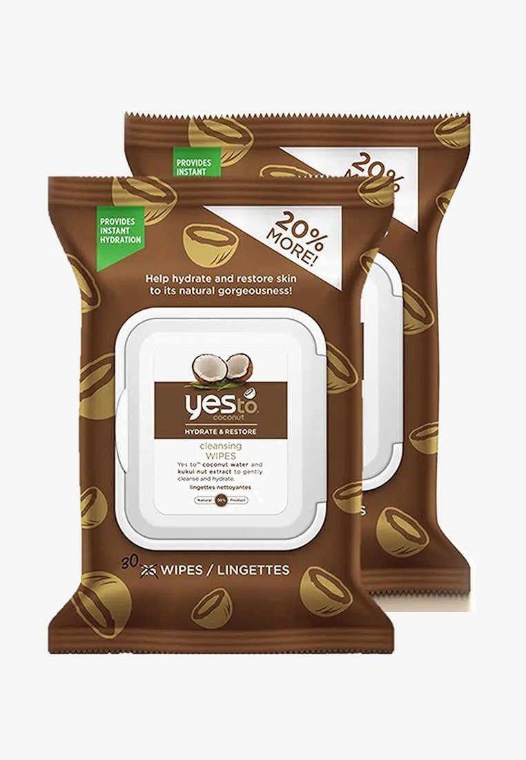 Yes To - YES TO COCONUT HYDRATE & RESTORE CLEANSING WIPES 2 PACK - Cleanser - -