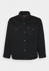 Levi's® Plus - BIG SHERPA TRUCKER - Džínová bunda - black denim - 4