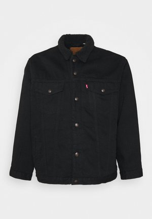 BIG SHERPA TRUCKER - Džínová bunda - black denim