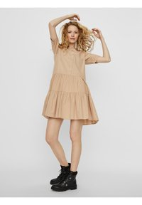 Vero Moda - VMDELTA DRESS - Shirt dress - beige - 1