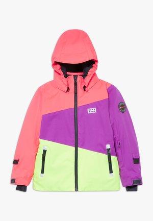 LWJODIE 701  - Snowboardová bunda - coral red