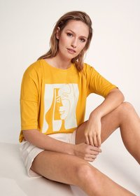 comma - Print T-shirt - apricot - 4