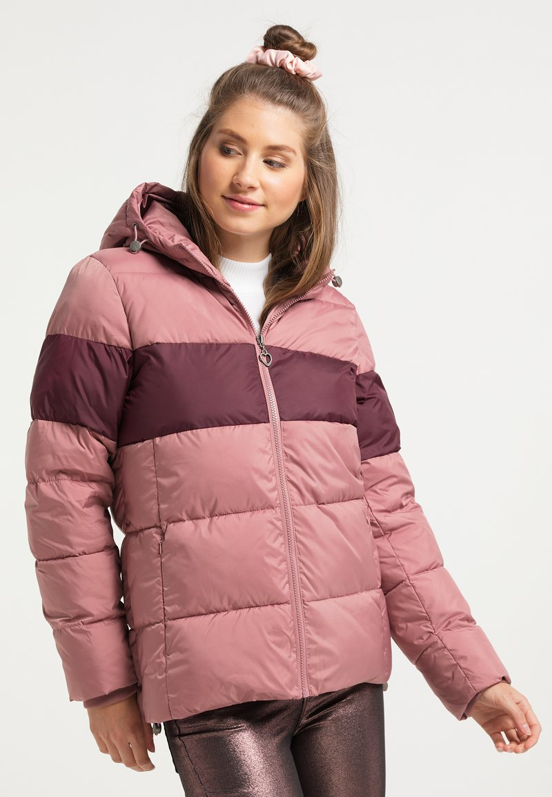 myMo - Winter jacket - rosa bordeaux