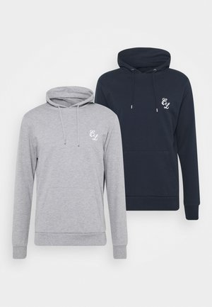 SIGNATURE HOODY 2 PACK - Sweatshirt - grey/navy