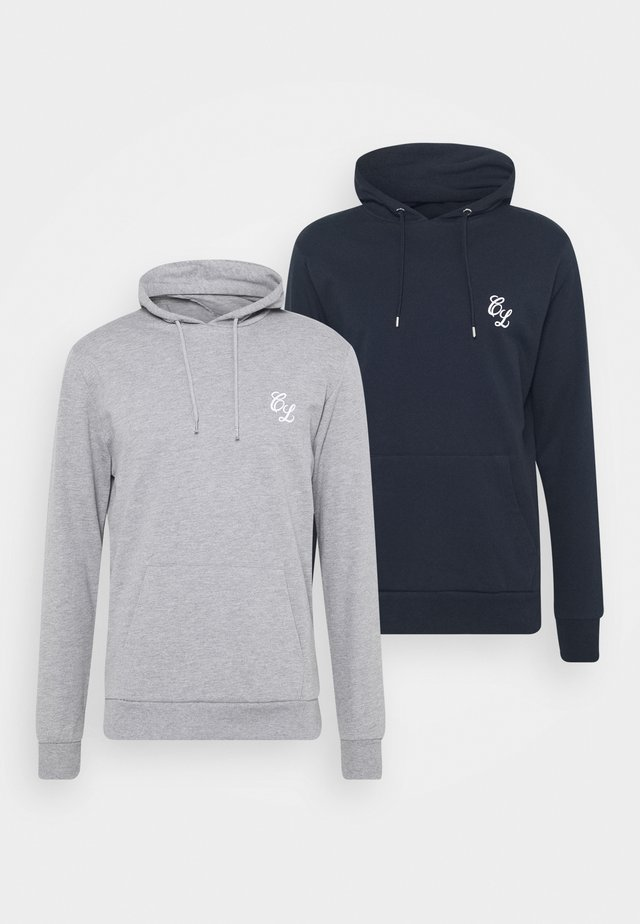 SIGNATURE HOODY 2 PACK - Felpa - grey/navy