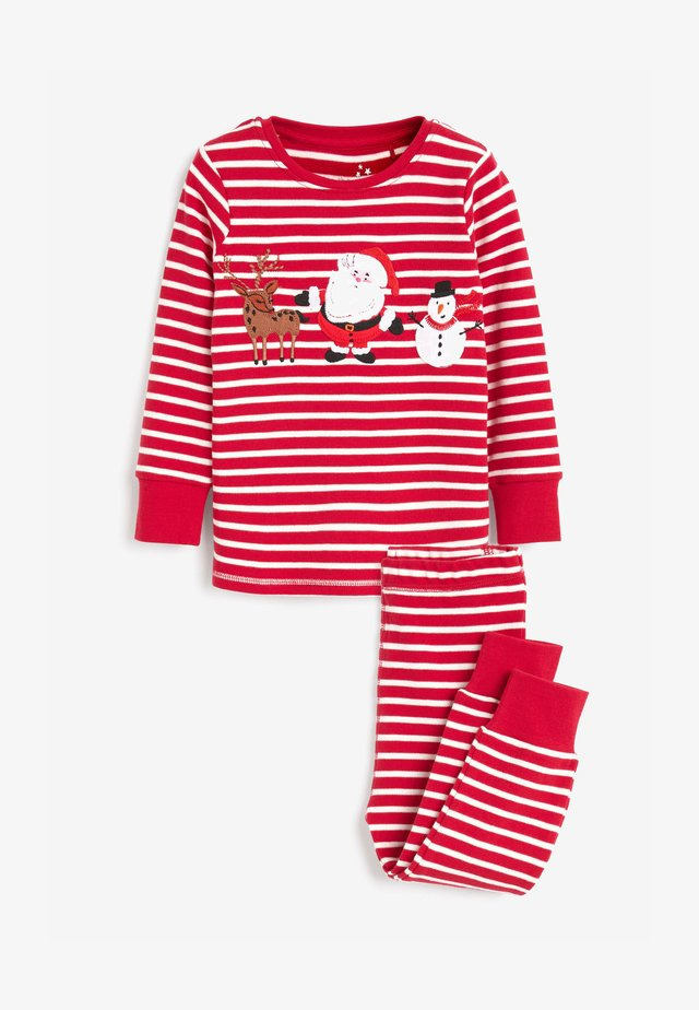 CHRISTMAS APPLIQUÉ STRIPE - Pyjama set - red