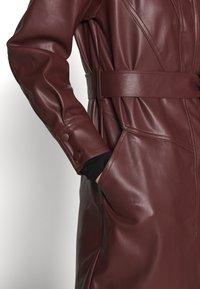 Topshop - BELTED SHAKETT - Short coat - burgundy - 5