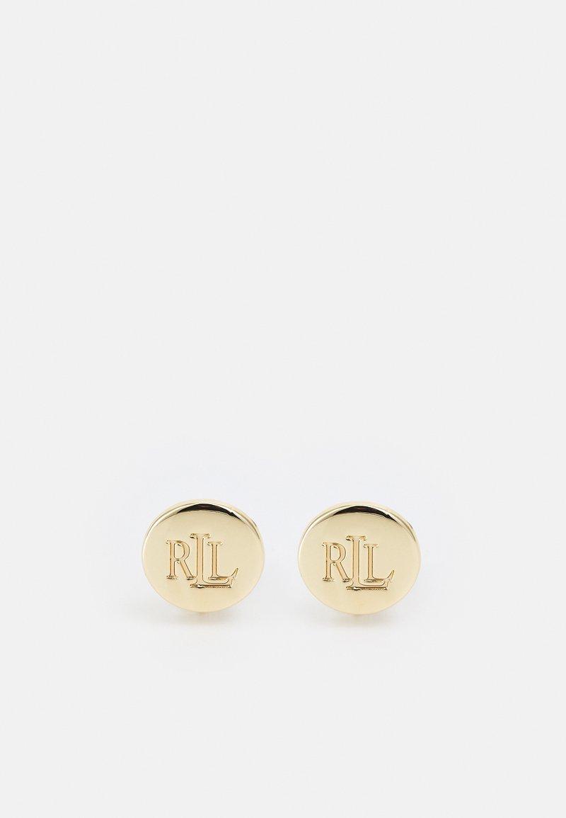 Lauren Ralph Lauren - ENGRAVED BUTTON - Pendientes - gold-coloured