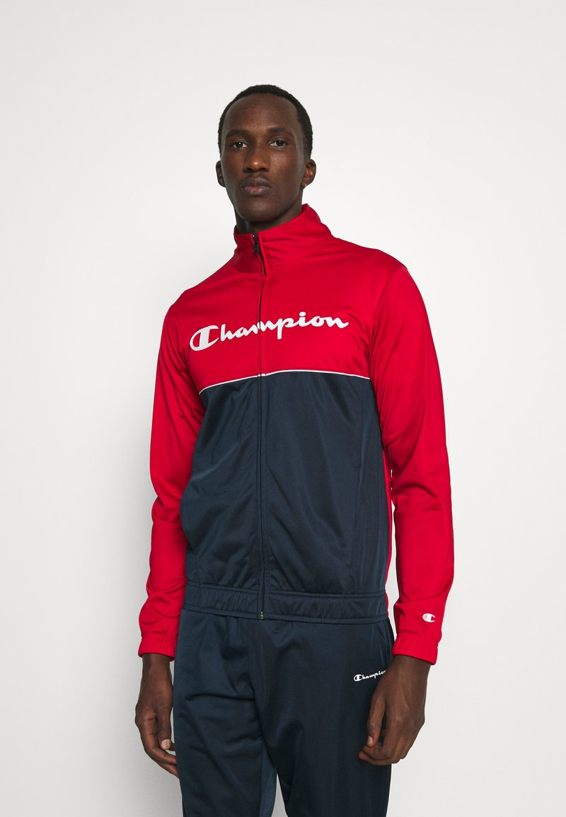 Champion - TRACKSUIT - Tracksuit - red/navy/white