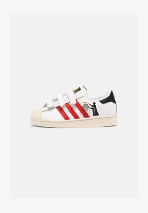 SUPERSTAR UNISEX - Matalavartiset tennarit - white/scarlet/chalk white