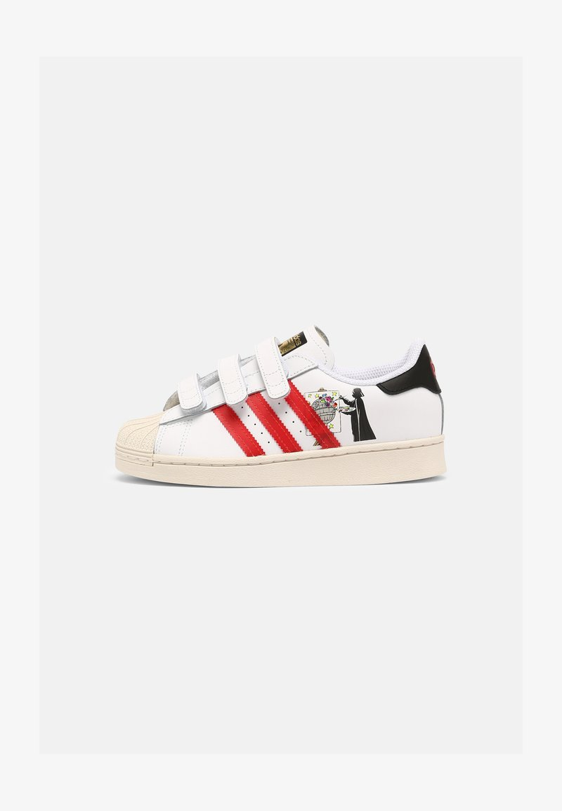adidas Originals - SUPERSTAR UNISEX - Tenisky - white/scarlet/chalk white