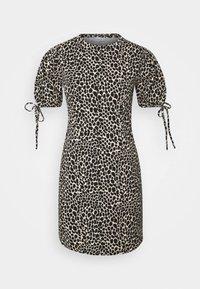 ANIMAL TEA DRESS - Jersey dress - white/black