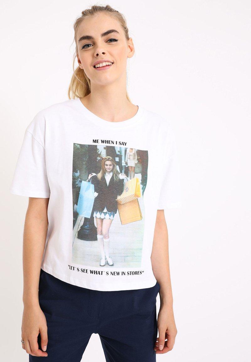 Pimkie - MIT MEME - Print T-shirt - naturweiß