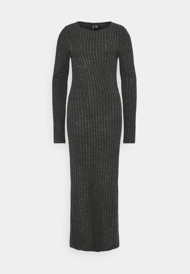 VMTAMIKA FITTED DRESS TALL - Vestido largo - dark grey melange