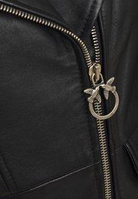 Pinko - FRANCO JACKET - Leather jacket - black - 6