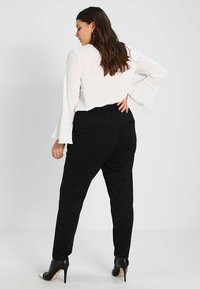 Zizzi - ZMADDISON CROPPED PANT - Tracksuit bottoms - black