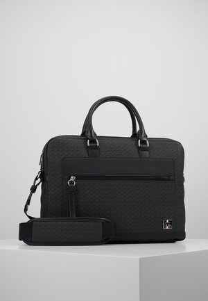 COATED COMPUTER BAG - Aktetas - black