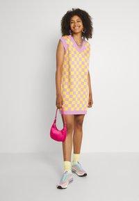 The Ragged Priest - VINYL DRESS - Jumper dress - yellow/lilac - 1