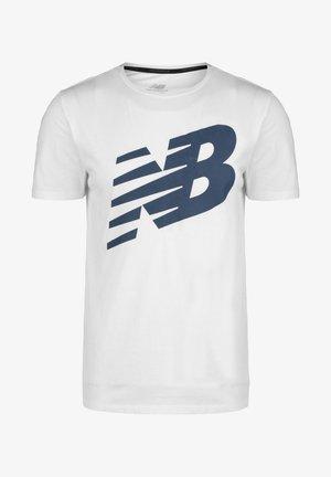 HEATHERTECH - Print T-shirt - white