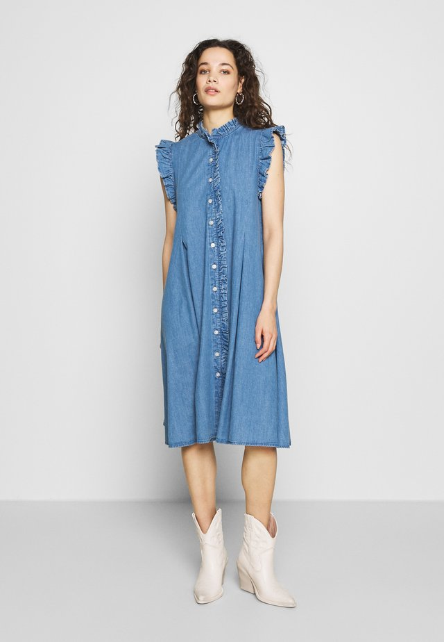 DEBRA - Denim dress - pale indigo