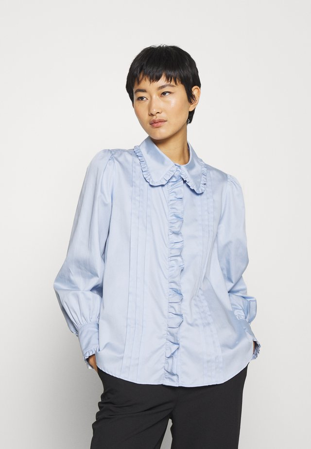ISABELLA BLOUSE - Button-down blouse - blue