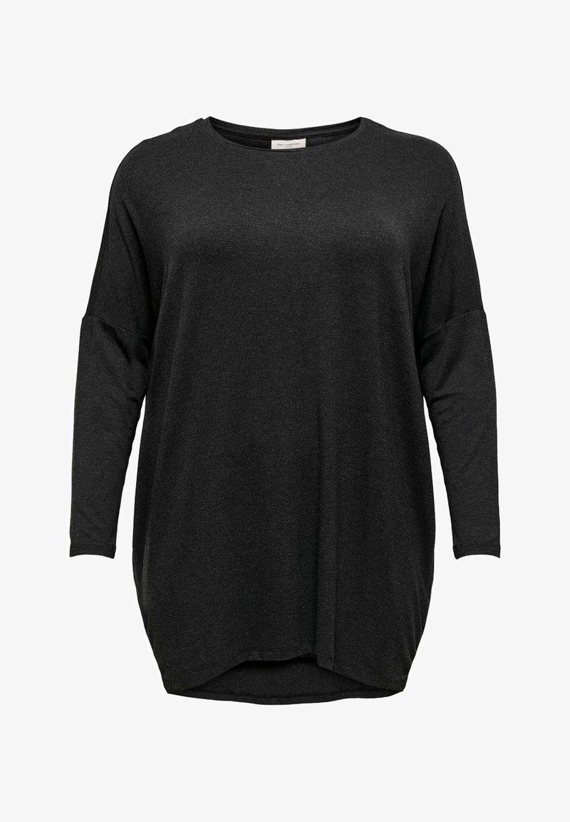 ONLY Carmakoma - CARCARMA LONG - Long sleeved top - dark grey melange