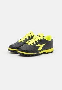 Diadora - PICHICHI 3 TF JR UNISEX - Astro turf trainers - black/fluo yellow - 1