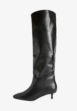 FOREVER COMFORT KITTEN HEEL LONG - Boots - black