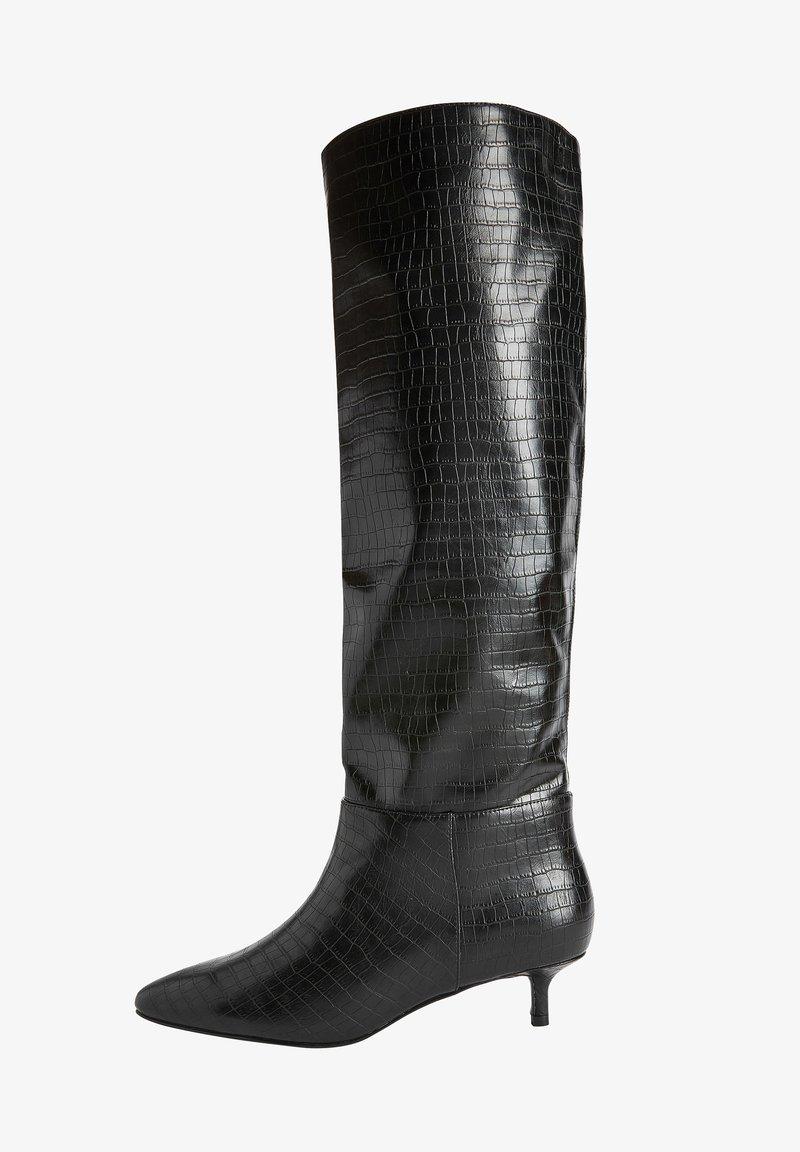 Next - FOREVER COMFORT KITTEN HEEL LONG - Laarzen - black