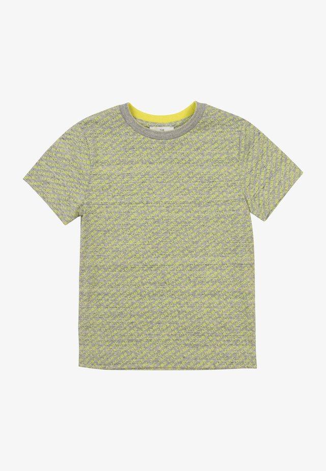 T-shirt imprimé - gris jaune