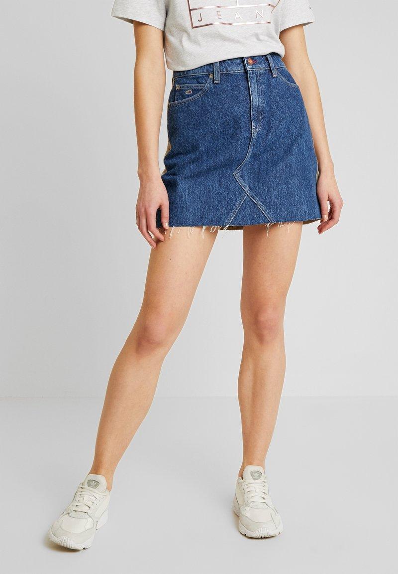 Tommy Jeans - SHORT SKIRT - Miniskjørt - blue denim