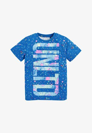 BLUE BRIGHT SPLAT UNLTD GRAPHIC T-SHIRT (3-16YRS) - Triko s potiskem - blue