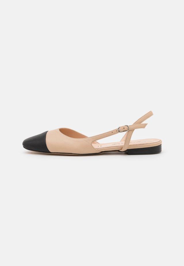 Slingback ballet pumps - multicolor/beige/black
