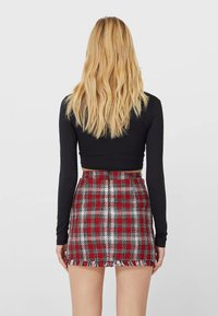 Stradivarius - A-line skirt - red - 2