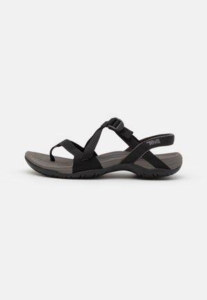CROSS STRAP - Outdoorsandalen - black