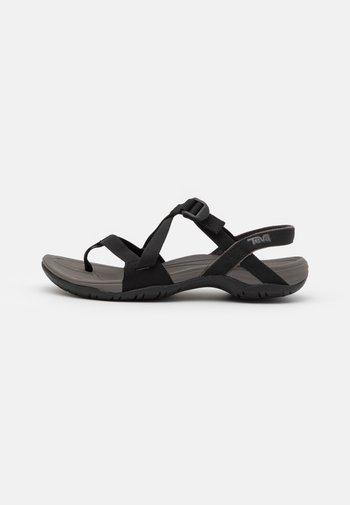 ASCONA CROSS STRAP - Walking sandals - black