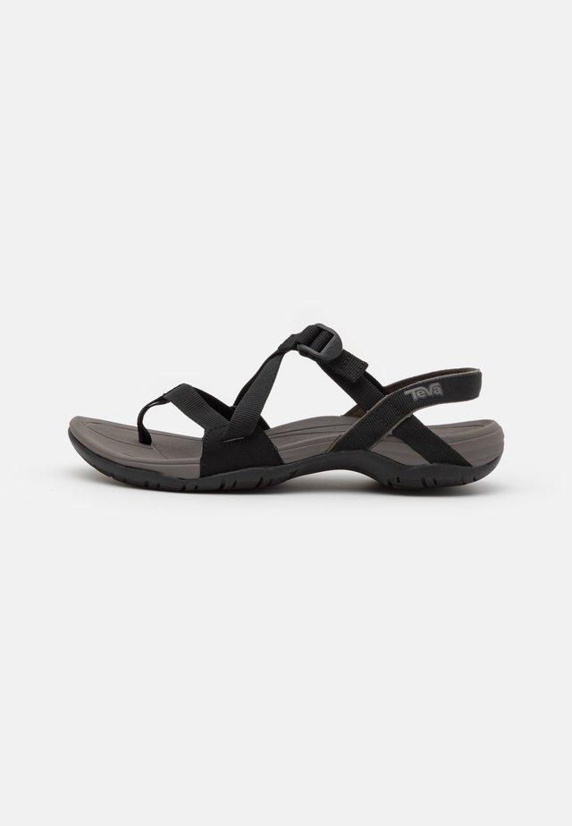 ASCONA CROSS STRAP - Outdoorsandalen - black