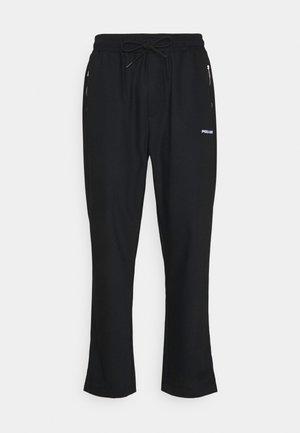VINTO WIDE TRACK PANTS UNISEX - Teplákové kalhoty - black