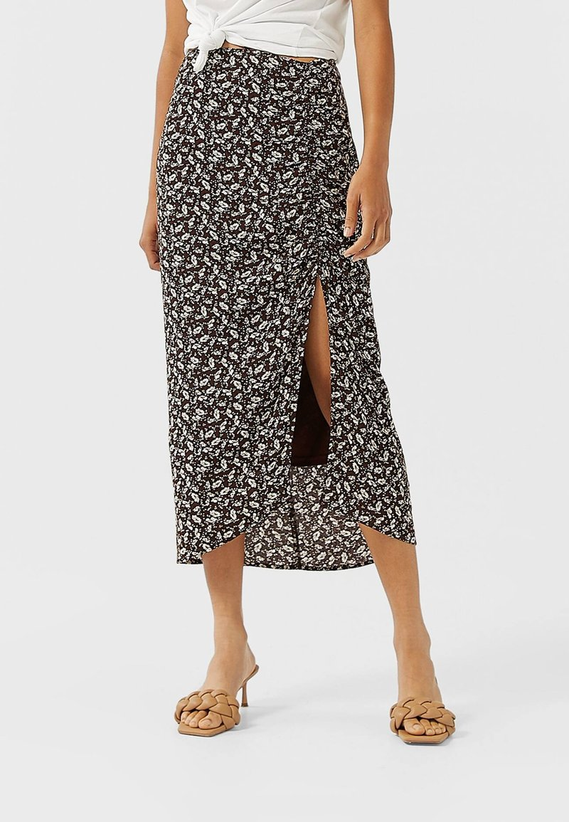 Stradivarius - Pencil skirt - brown