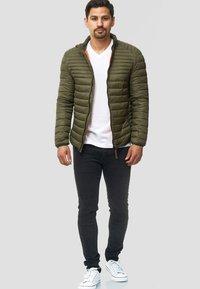 INDICODE JEANS - REGULAR FIT - Light jacket - army - 1
