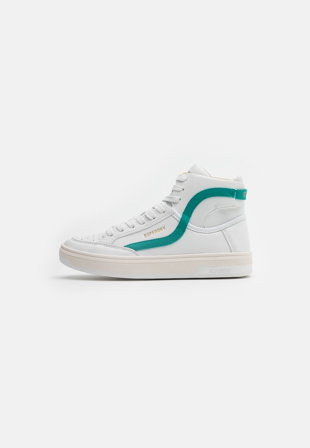 BASKET LUX TRAINER - High-top trainers - white/aqua